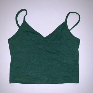 Forever 21 Emerald Green Crop Top